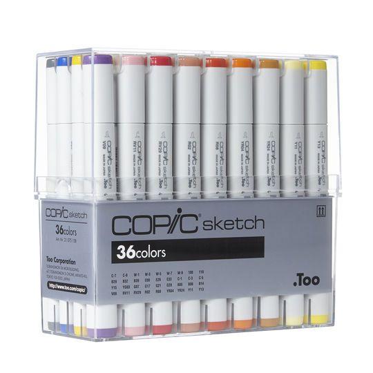 Copic Sketch Marker Set, 36 Color Basic
