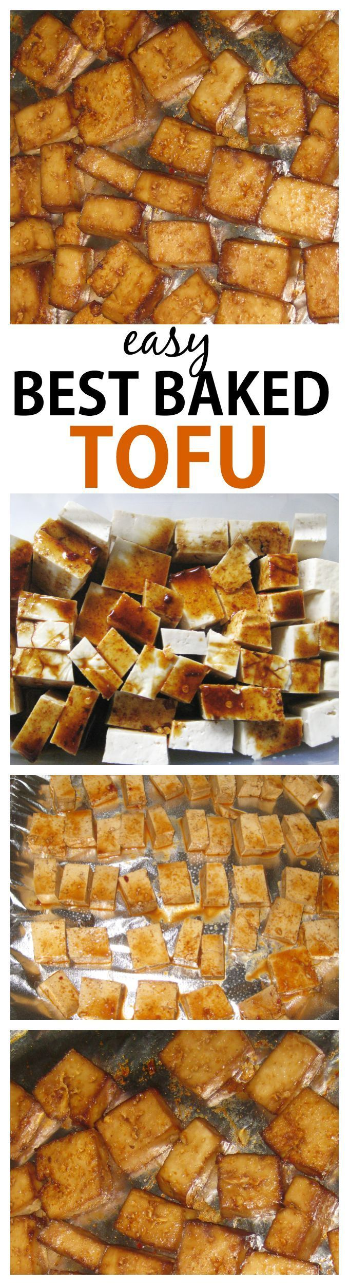 Hands down, the best (and easiest!) baked tofu ever- A delicious marinade and cooking method makes it an absolute hit- Vegan, gluten free and very low carb!-thebigmansworld.com #tofu #vegetarian #delicious