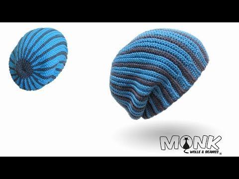 Longbeanie zweifarbig bosnisch häkeln - Mütze häkeln - Kettmaschen häkeln - YouTube