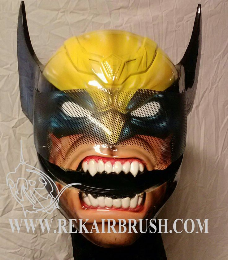WOLVERINE motorcycle helmet by WWW.REKAIRBRUSH.CO M