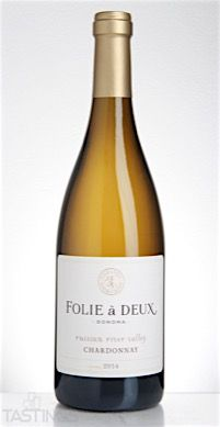 Folie a Deux 2014 Chardonnay Russian River Valley USA Wine Review | Tastings