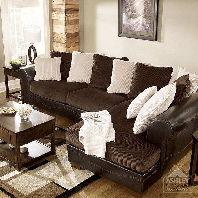 Ashley Furniture HomeStore   Victory   Chocolate Sectional | Living Rooms,  Room And House