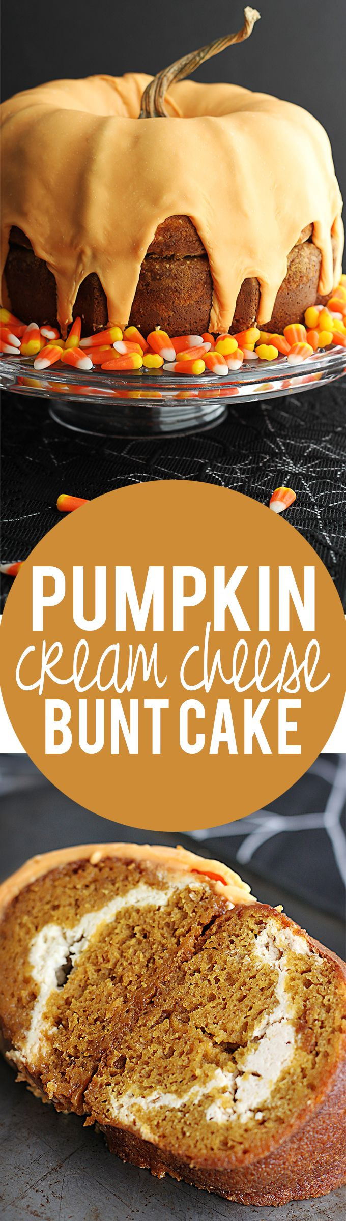 Pumpkin Cream Cheese Bunt Cake - A perfect centerpiece and hit dessert for your holiday party this season!