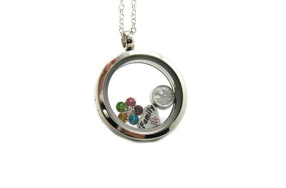 Custom Charm Locket Necklace Custom Floating Charm by RingMeUpToo