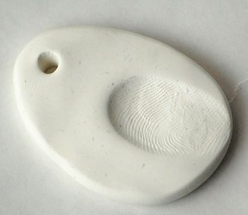 fingerprint pendants (or ornaments!) // the crafty crow for according to kelly