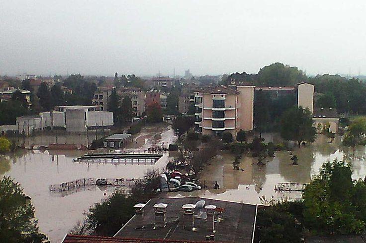 L'alluvione vista dal tetto delle Piccole Figlie