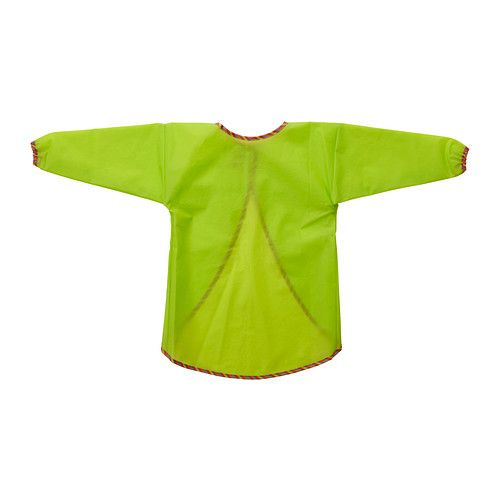 $4.00 MÅLA Long sleeve apron IKEA Touch and close fastening makes it easy to remove and reattach.