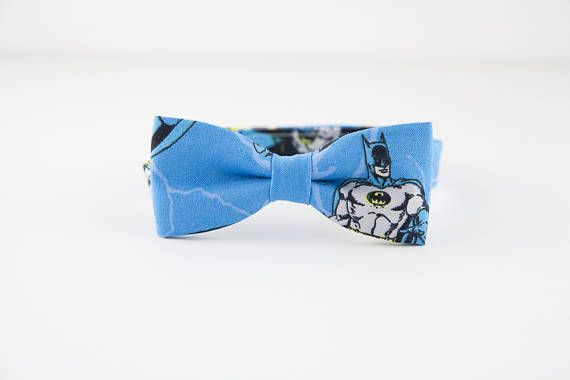 Batman wedding bow tie super hero tie toddler bow tie smash