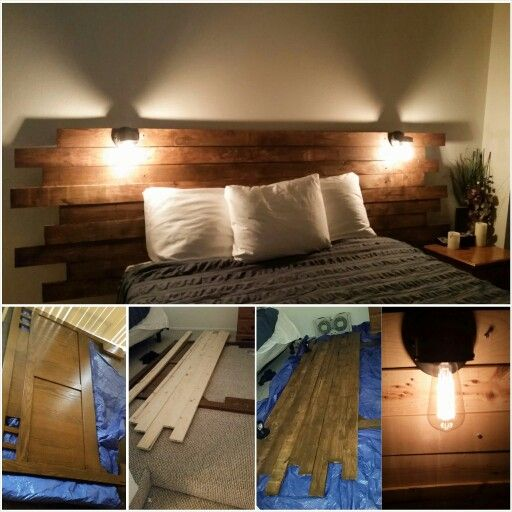 Diy rustic wood headboard first off i recommend using a - What to use instead of a headboard ...