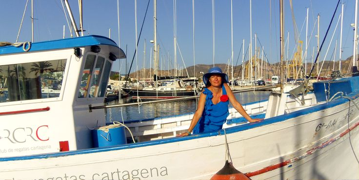 An old fisherboat is run as a service boat for sailing races across the port of #Cartagena, Murcia. http://www.ferienwohnungen-spanien.de/Costa-Calida/artikel/cartagena-hafenstadt-mit-flair