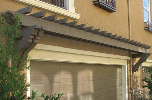 39 best garage overhangs images on pinterest facades for Fypon pvc trellis system