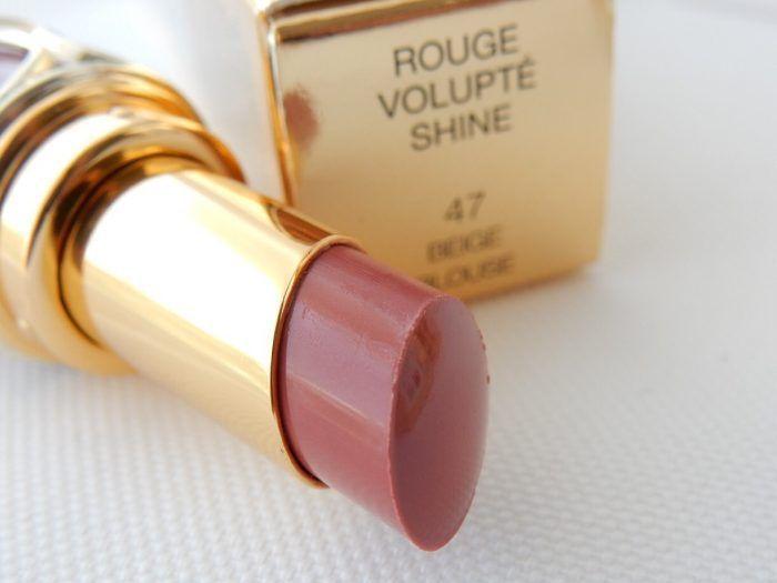 YSL Rouge Volupte Shine Oil In Stick Lipstick Beige Blouse