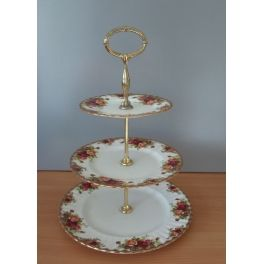 Etagere 3 laags Old Country Roses Royal Albert