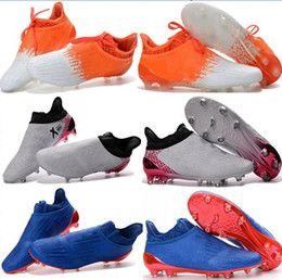 2017 mens fashion waterproof accelerator speed of light ace 16+ Purechaos FG AG Soccer shoes Laceless Cleats Cheap Football boots 39-46