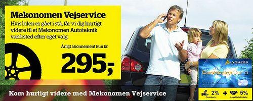 Mekonomen Vejservice med Lyoness rabat hos Mekonomen Autoteknik - ES Motor. Online bestilling på www.es-motor.dk/vejservice.html