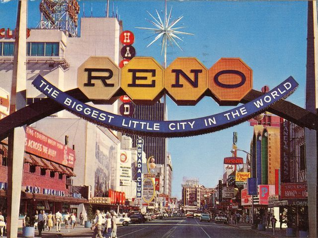 The Second Reno Arch Was Erected In 1963 To Commemorate Nevada S 100th Year As A State It Stayed In Downtown Reno Until 1987 And Was L Reno Nevada Reno Nevada