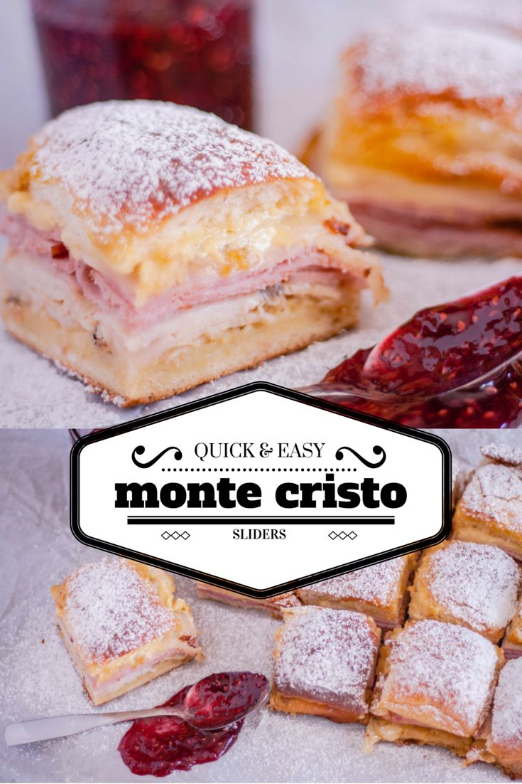 Try these quick and easy Monte Cristo Sandwich Sliders - an appetizer-friendly take on the battered and fried turkey, ham, and cheese sandwich.                                                                                                                                                                                 More