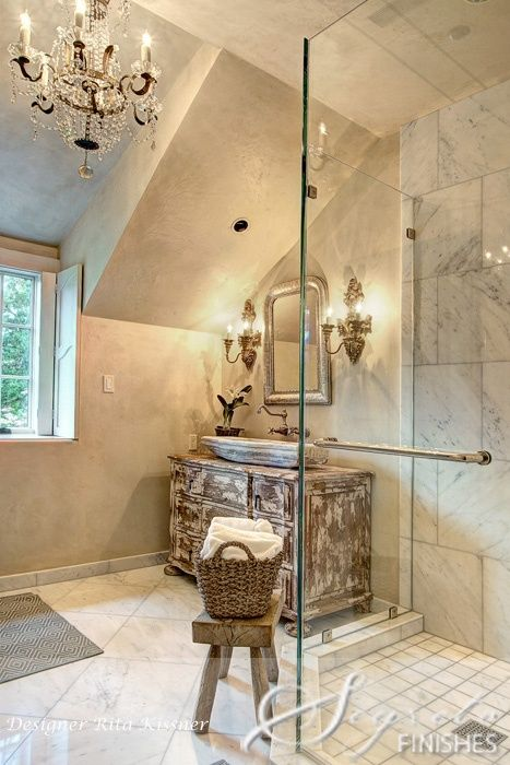 115 best shabby chic decor images on pinterest for the for French style bathroom ideas