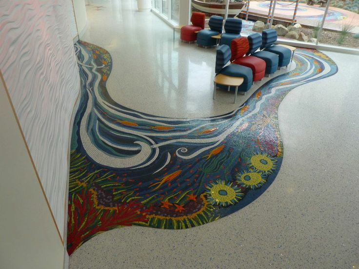 """Kim Emerson's """"River of Life"""" located in the main lobby of"""