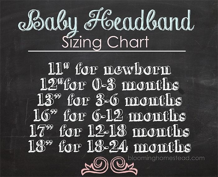 Baby headband sizing to make perfect baby headbands | diy | baby | headbands