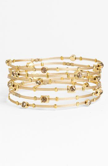 Seasonal Whispers Crystal & Metal Bangles (Set of 6) available at #Nordstrom