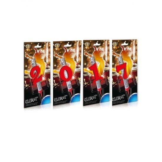 IJsfonteinen 2017  Ijsfonteinen 2017. Set van 4 ijsfonteinen met getallen erg leuk voor op een schaal oliebollen tijdens de jaarwisseling. De ijsfonteinen blijven ongeveer 30 seconden branden. De fonteinen zijn ongeveer 13 cm lang en wordt geleverd in een blisterverpakking.  Dit artikel bestaat uit: 1x IJsfontein 1 jaar 1x IJsfontein 2 jaar 1x IJsfontein 7 jaar 1x IJsfontein 0 jaar  EUR 7.40  Meer informatie