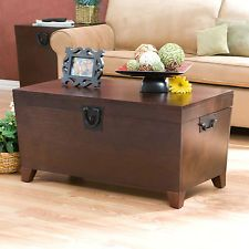 Trunk Coffee Table With Storage Chest Mission Style Pyramid Trunk Lift Top Wood