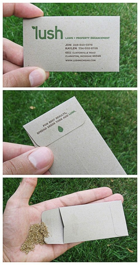What a great idea for a business card! Let it grow....