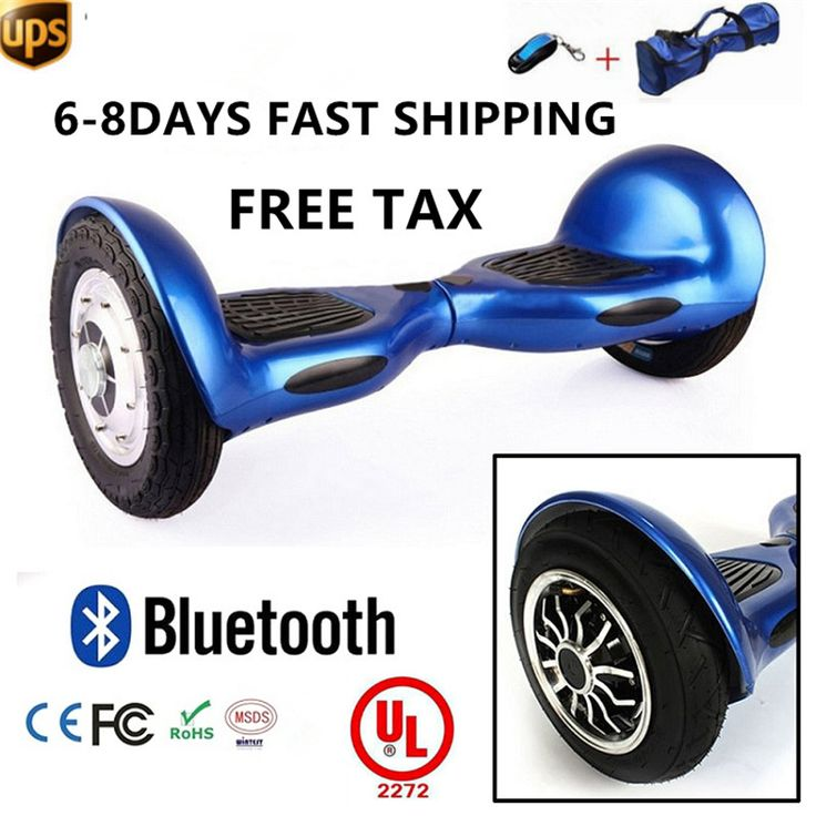 "Hooverboard 1o"" wheel off road model with Bluetooth + remote key and carry bag"
