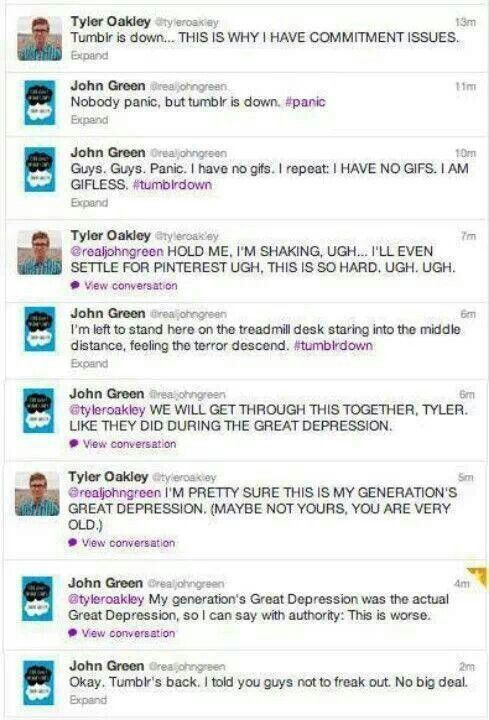 Tyler Oakley, John Green and a Tumblr blackout