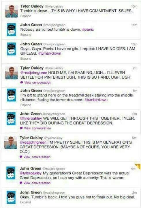 Tyler Oakley, John Green and a Tumblr blackout