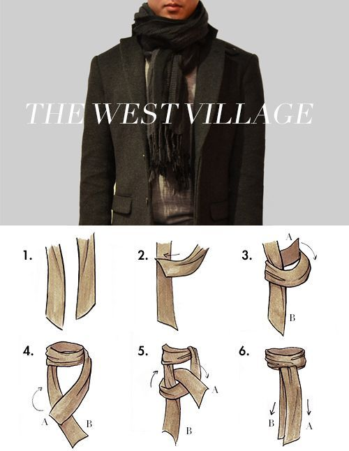 Tie your scarf all swanky-like. For Man