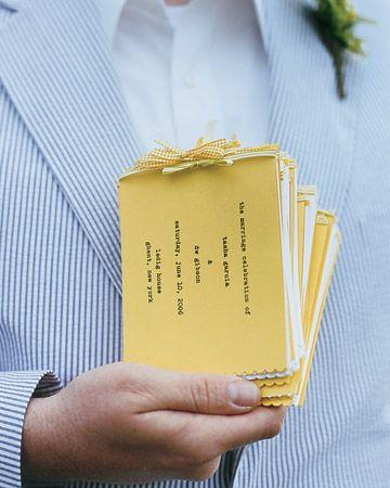 39 Wedding Program Ideas via Martha Stewart Weddings