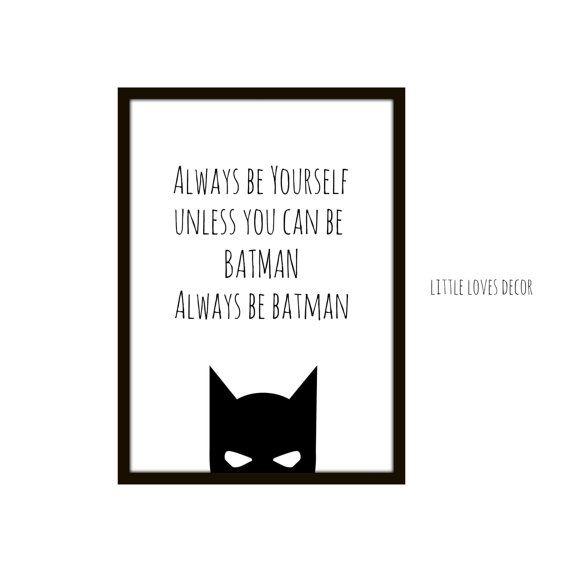 Immer sein Batman Wandkunst von Littlelovesdecor auf Etsy