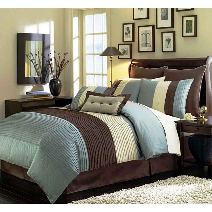 Blue And Brown Striped Bedroom 84 best blue/brown colour scheme images on pinterest | home