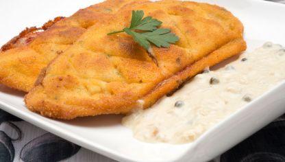 Receta de Filetes de pollo rellenos con salsa de chalota y pimienta sobrasada