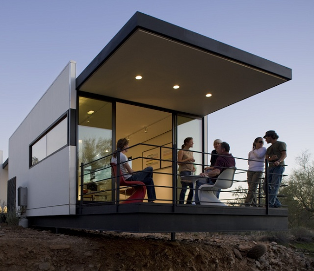 If Its Hip, Its Here: Taliesin Students Build Prefab Mod Sustainable Home In The Desert