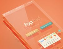 Foofind mobile interface design on behance