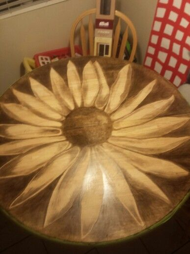 Almost done.. wip #diy #art #woodstain #wood #sunflower ...