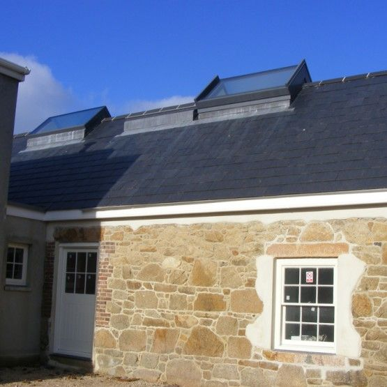 The Ridgeglaze skylight is a ridge rooflight that flows seamlessly with the apex of any pitched roof.