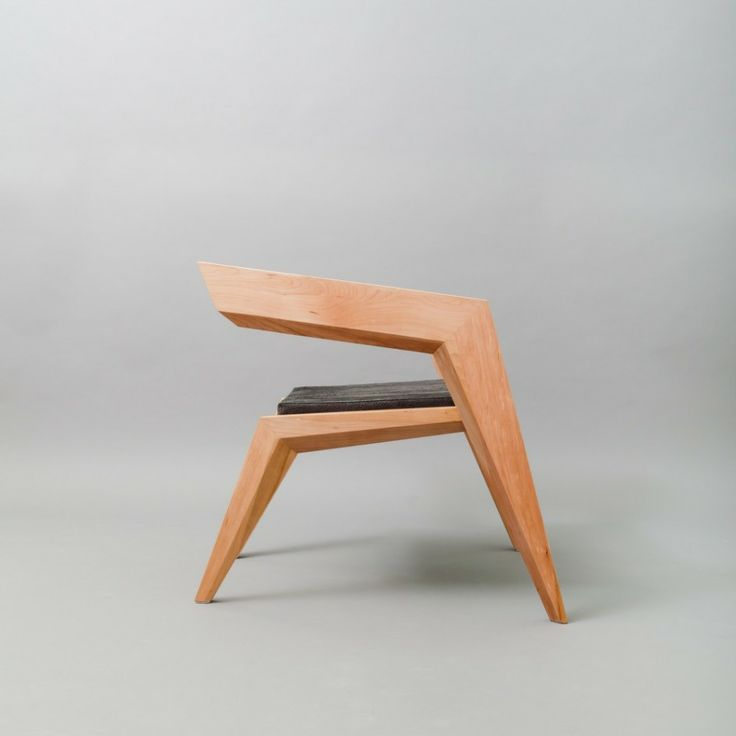Furniture, Furniture Wooden Chairs Seat Design Lacquer Teak Wood Untreated Right Angle Chairs Elbow Chairs Art: Marvellous Celebrating Avant-Garde Minimalism: 2R Armchair by Sien Studio