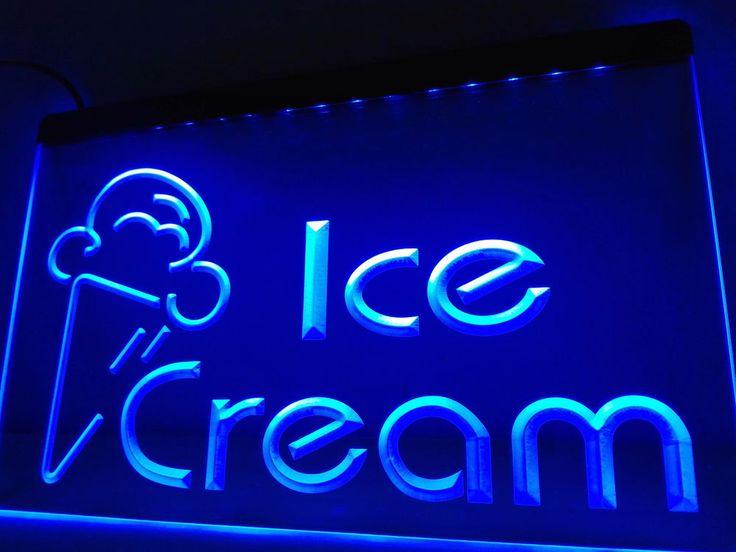 Newest Ice Cream Cafe Logo LED Neon Light Sign home decor crafts