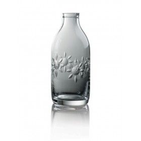 Cut Crystal Milk Bottle - Flower Cut  by Sam Sweet from Miratis.com.  Cut Crystal Milk Bottle - Flower Cut.  Cut Crystal Milk Bottles are a beautiful reminder about the value of individuality. Each piece is hand blown and hand cut in 24% lead crystal, insuring that they are guaranteed to be reused unlike their mass produced counterpart.