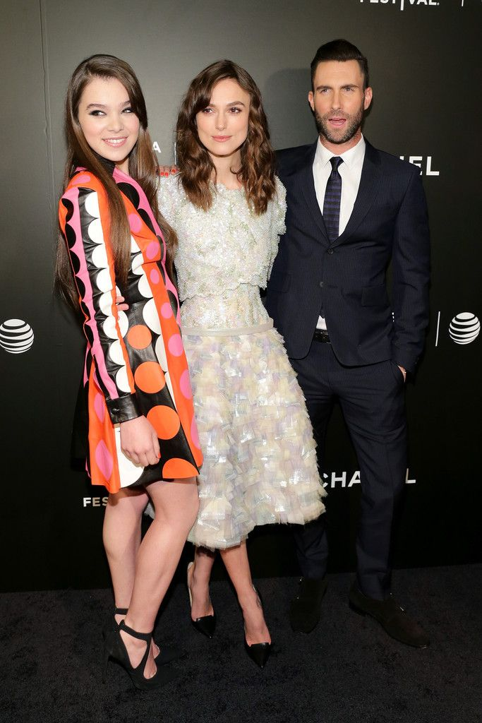 "Keira Knightley Photos Photos - (L-R) Actors Hailee Steinfeld, Keira Knightley, and musician Adam Levine attend the ""Begin Again"" Closing Night Premiere during the 2014 Tribeca Film Festival at BMCC Tribeca PAC on April 26, 2014 in New York City. - ""Begin Again"" Closing Night Premiere - 2014 Tribeca Film Festival"
