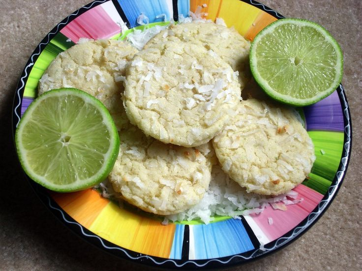 Chewy Coconut Lime Sugar Cookies.