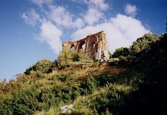 Trzęsacz, Poland, castle ruins
