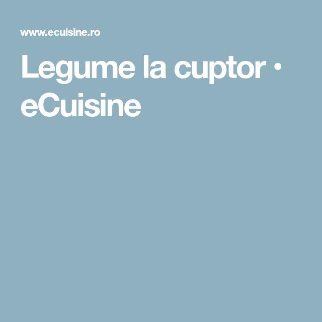 Legume la cuptor • eCuisine