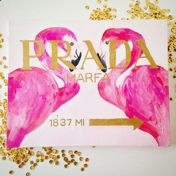 Preppy Prada Marfa Inspired Painting with by TheCraftCowgirl