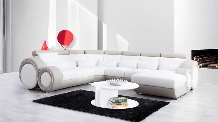 Unwind Leather Modular Lounge Option A - Lounge Life