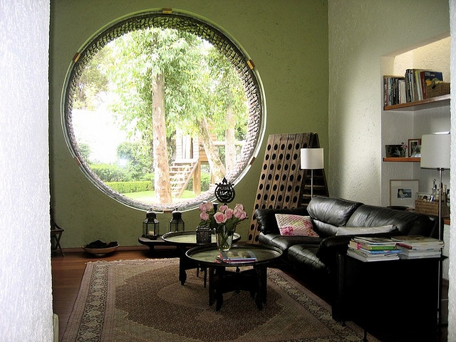 huge round window
